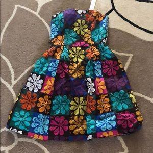 New Trina Turk Floral Geometric Print Dress 0